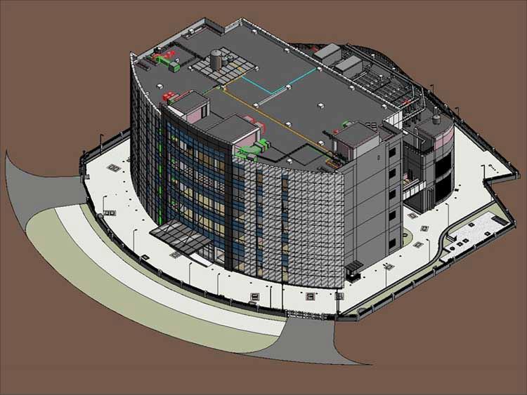 3D BIM Model of Building