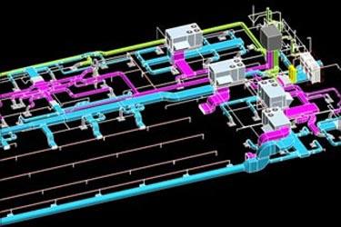 MEP 3D Model for Commercial Building