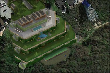 3D Modeling of a Property Retaining Wall