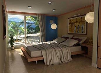 3D Interior View of Bedroom