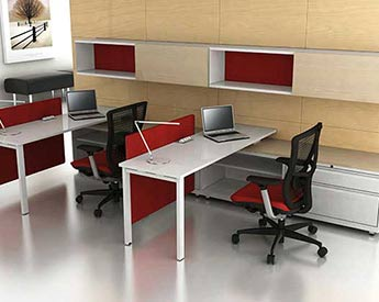 Private office furniture Rendering