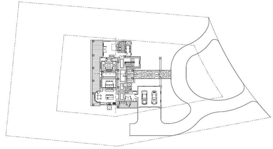 Site Plan Drawing in CAD