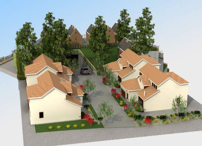 3D Modeling & Rendering of a Property Retaining Wall in California