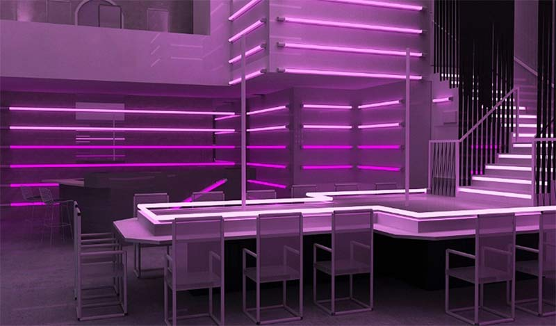 Photorealistic 3D Rendering of a Night Club's Interiors in USA