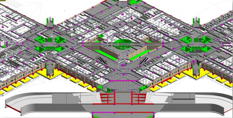 BIM LOD500 for a University Hospital Building as per AIA Standards in Saudi Arabia