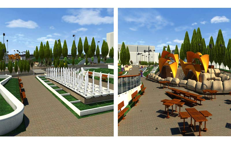 LOD 300 Modelling of a Public Park According to AIA Standards in USA