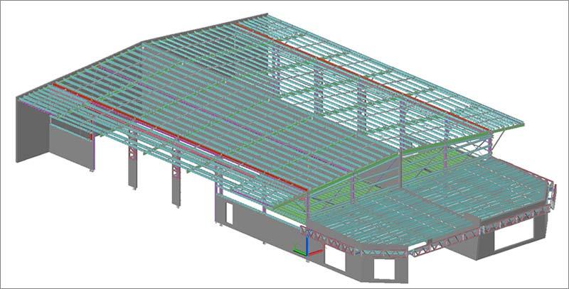 Tekla Steel Model for a Business Park in Australia