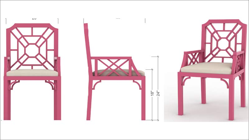 3D Models & Isometric Images with Texture Details for a Furniture Manufacturer in USA