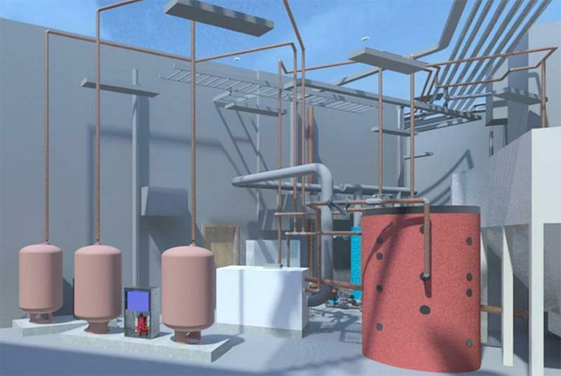 MEP BIM Modeling & Clash Detection for a College Campus Plant Room in Europe