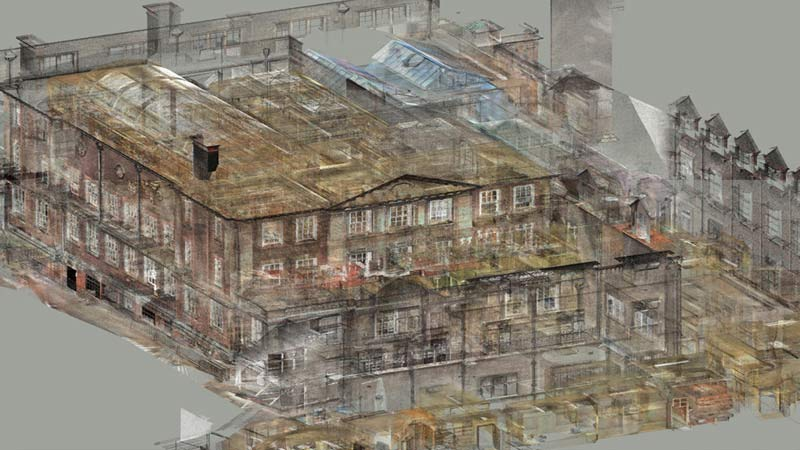 Converted 3D Scanned Point Cloud Data for an Educational Center in UK