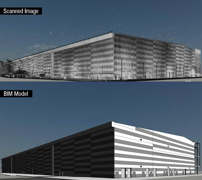 Converted 3D Scanned Point Cloud Data for an International Broadcast Center in UK