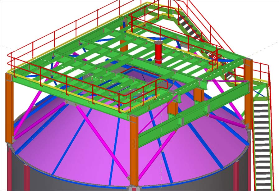 Steel Detailing Services for a 1000 ton Steel Silo in Australia