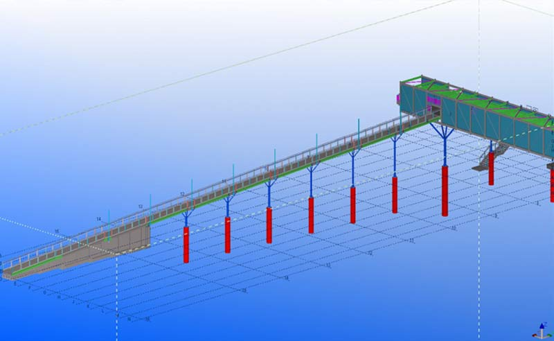 Shop Drawings, Assembly Drawings & Part Drawings for a Pedestrian Bridge in Australia