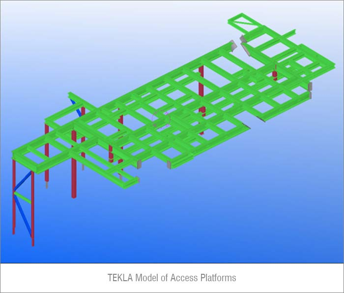 Structural Steel Detailing of an Off-shore Oil Platform in Tekla, Texas, USA