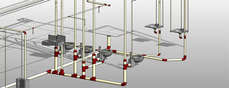 LOD 300 for Plumbing and Hydronic Systems to a Design Drafting Company in Australia