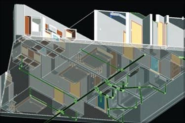 3D MEP Modeling for Residential Building