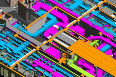 MEP Modeling & Clash Detection for Airport