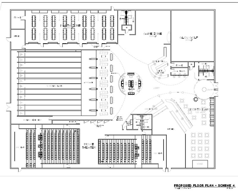 CAD Drafting - Entertainment Club