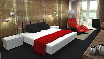 Bedroom Design - Interior Rendering