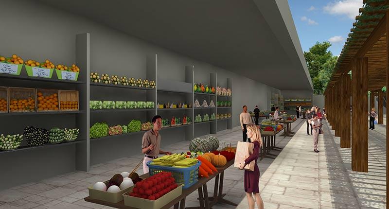 CAD Rendering for Supermarket