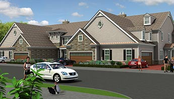 Exterior View Rendering for a House