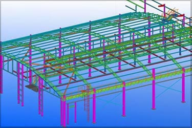 Steel Detailing & Fabrication Drawings for Railway Depot