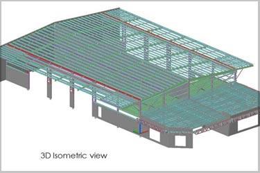 Tekla Steel Model for a Business Park