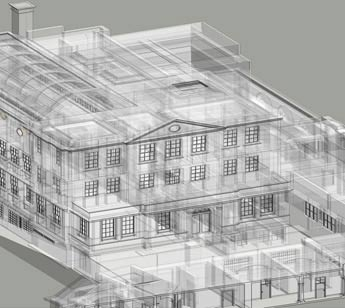 Scan to BIM - Wireframe Model