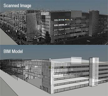 Point Cloud to BIM - International Broadcast Centre