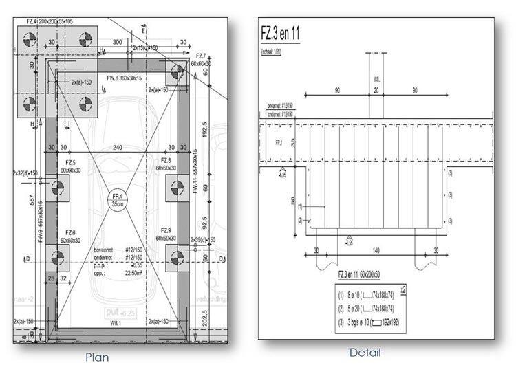 Rebar Plan and Detailing