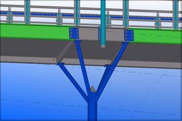 Structural Steel Model for a Pedestrian Bridge