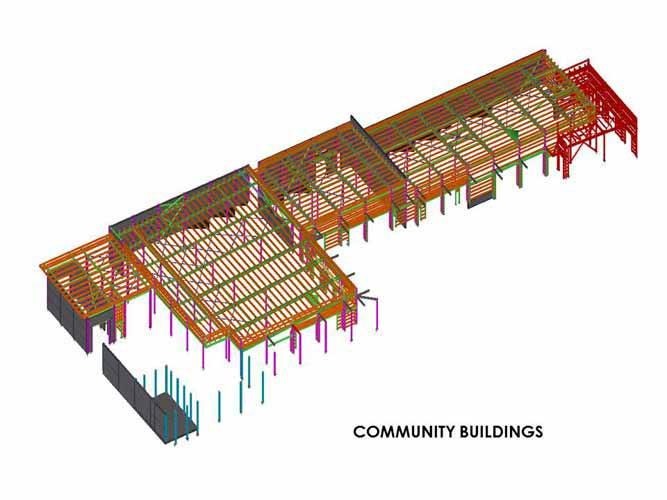 Revit Structure Design of Community Building