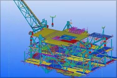 Structural Steel Detailing for Off-shore Oil Platform