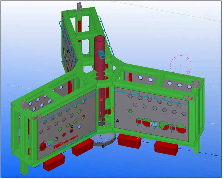 3D Structural Model in Tekla