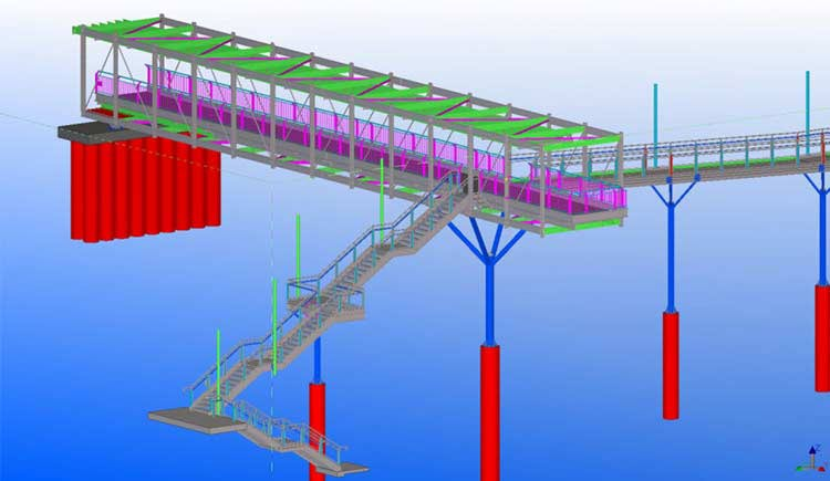 3D Model of Structural Bridge