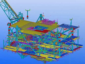 Oil Plant Model in Tekla