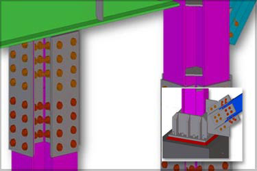 Tekla Steel Detailing for Boiler Supporting Structure